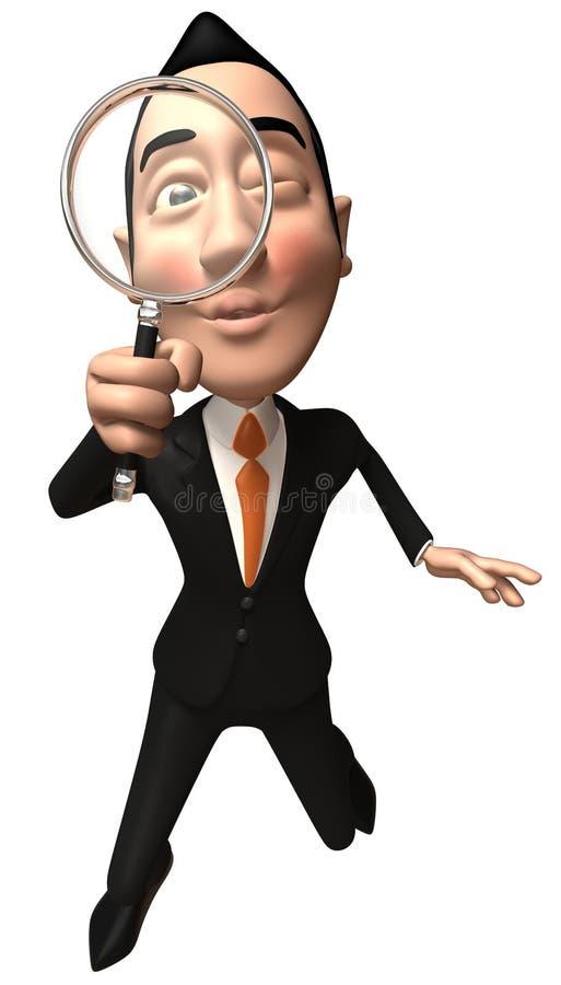 Hombre de negocios asiático stock de ilustración