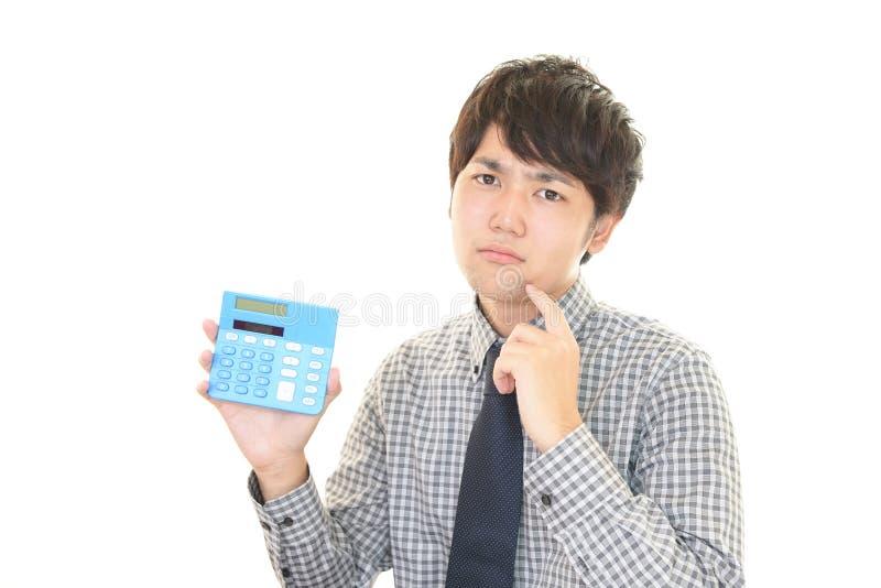 Hombre de negocios asiático difícil fotografía de archivo