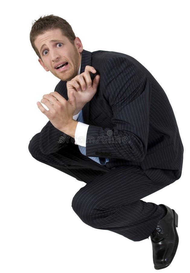 Hombre de negocios asustadizo foto de archivo libre de regalías