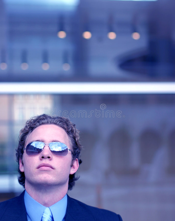 Hombre de negocios atractivo fotografía de archivo libre de regalías