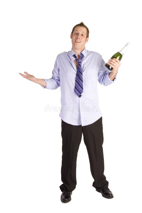 Hombre de negocios borracho fotografía de archivo libre de regalías