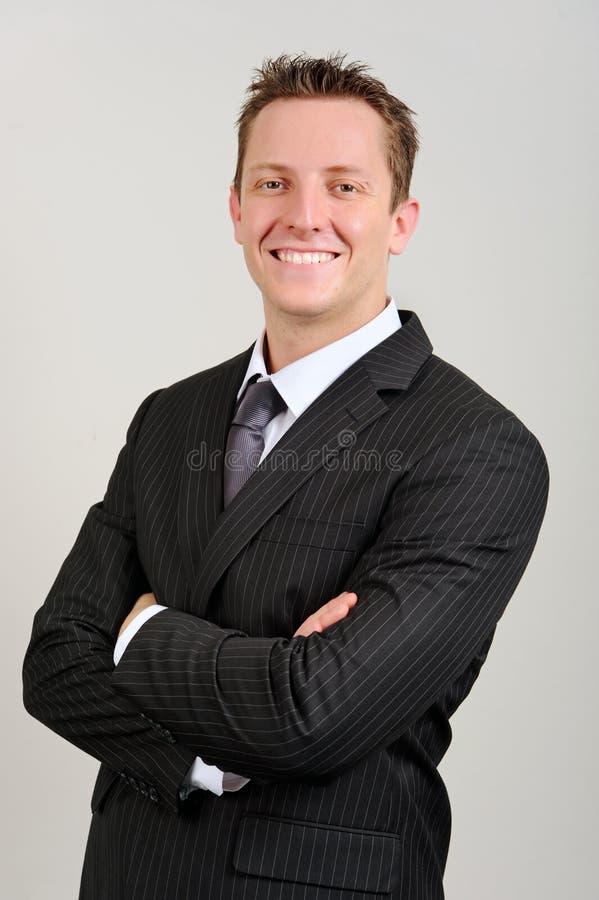 Hombre de negocios cómodo imagen de archivo