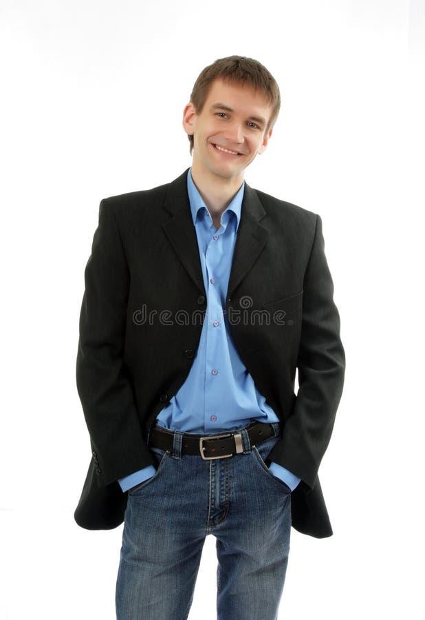 Hombre de negocios cómodo imagenes de archivo