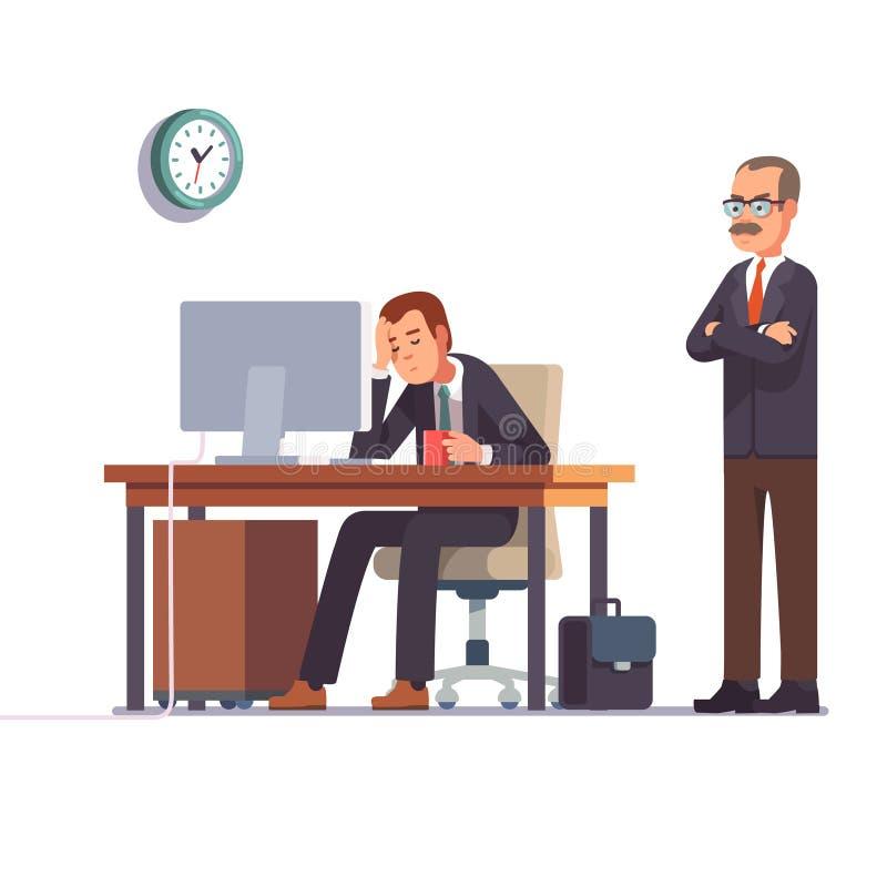 Hombre de negocios cansado stock de ilustración