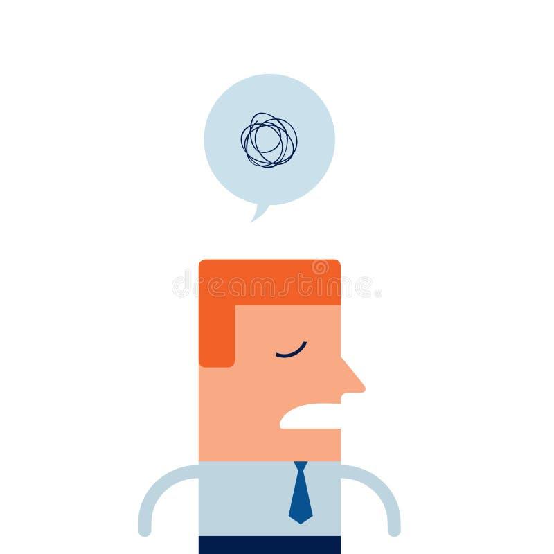 Hombre de negocios cansado deprimido libre illustration