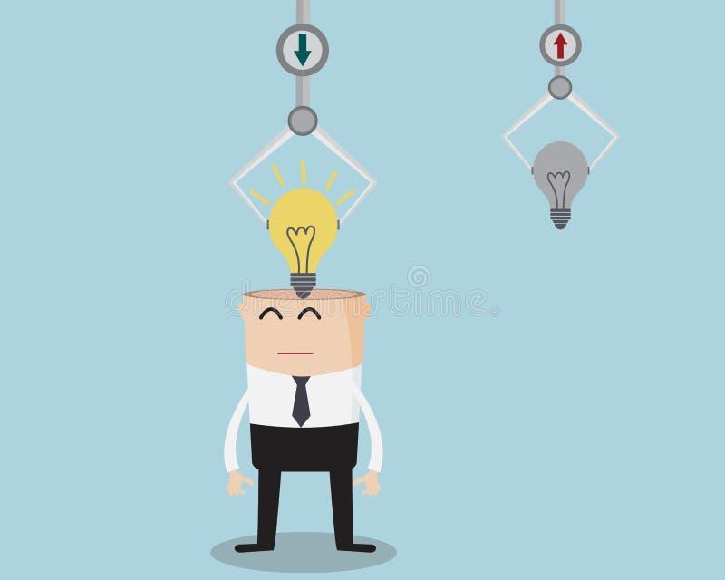 Hombre de negocios Changing Bulb Idea libre illustration