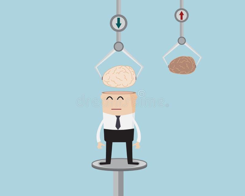 Hombre de negocios Changing Fresh Brain libre illustration