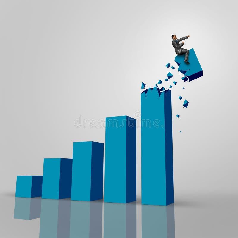 Hombre de negocios Chart ilustración del vector