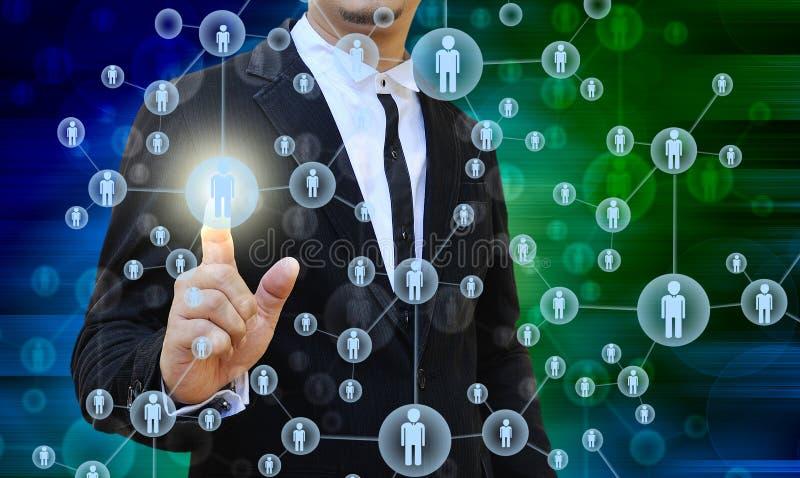 Hombre de negocios Choosing la persona adecuada ilustración del vector