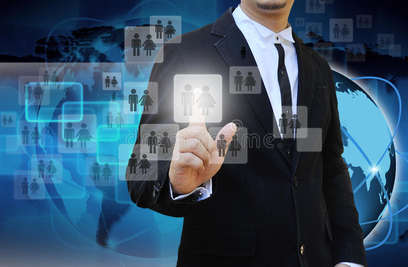 Hombre de negocios Choosing la persona adecuada fotos de archivo libres de regalías