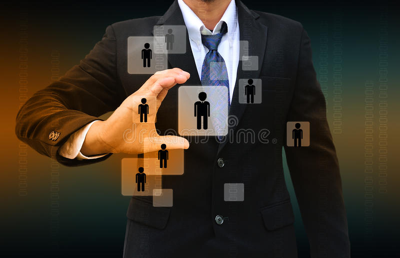 Hombre de negocios Choosing la persona adecuada fotografía de archivo libre de regalías