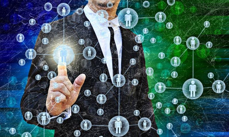Hombre de negocios Choosing la persona adecuada imágenes de archivo libres de regalías