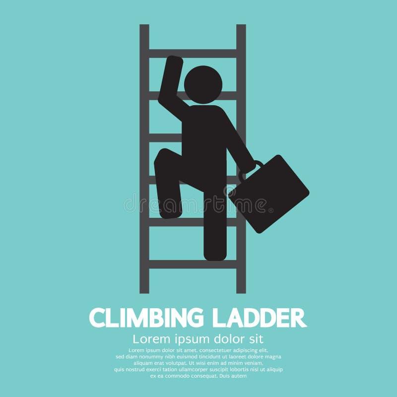 Hombre de negocios Climbing Ladder stock de ilustración