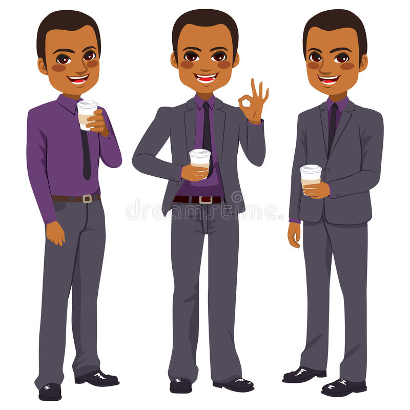 Hombre de negocios Coffee Take Away stock de ilustración