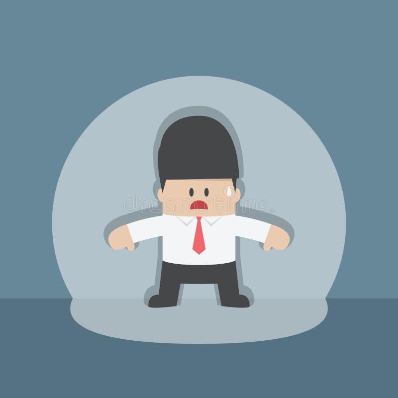 Hombre de negocios cogido ilustración del vector