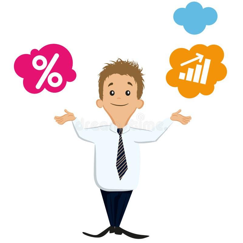 Hombre de negocios comparativo libre illustration