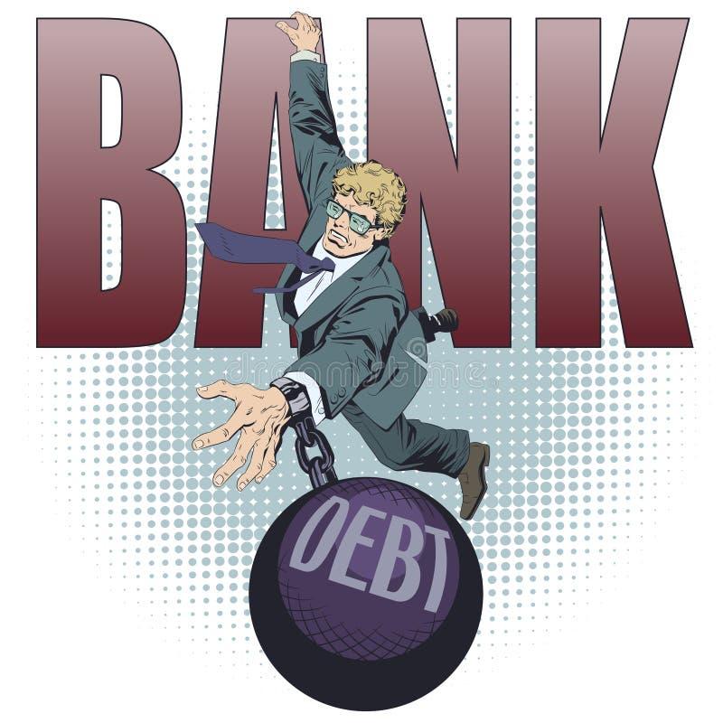 Hombre de negocios con deuda Ilustraci?n com?n libre illustration