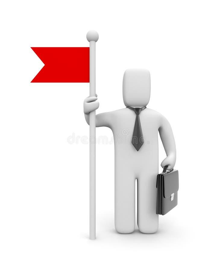 Hombre de negocios con el indicador stock de ilustración