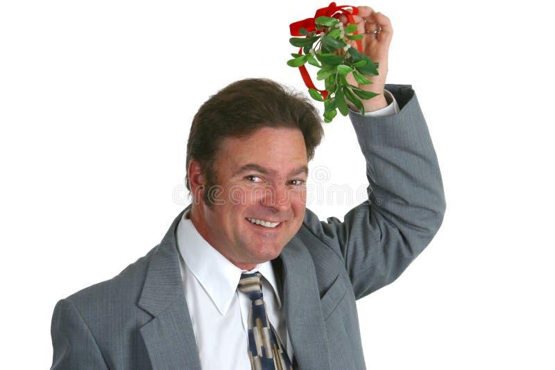 Hombre de negocios con el muérdago imagen de archivo libre de regalías