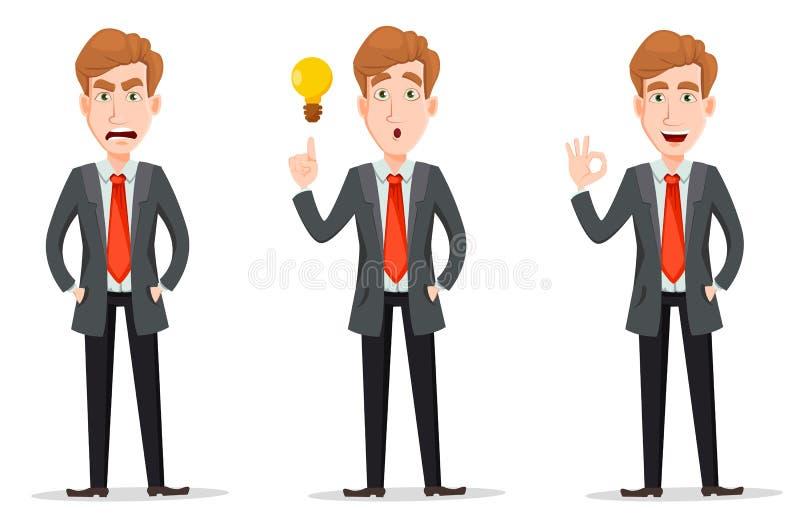 Hombre de negocios con el pelo rubio, sistema libre illustration