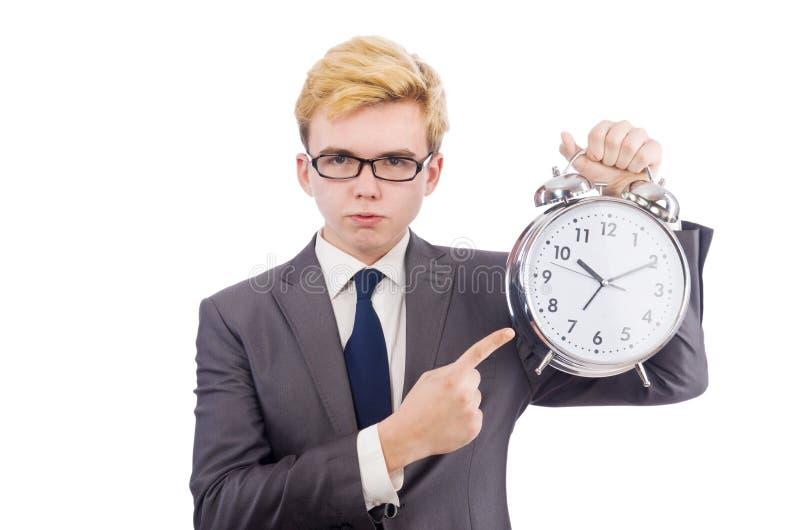 Download Hombre De Negocios Con El Reloj Aislado Foto de archivo - Imagen de corporativo, varón: 41915260