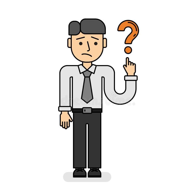 Hombre de negocios con el signo de interrogación libre illustration