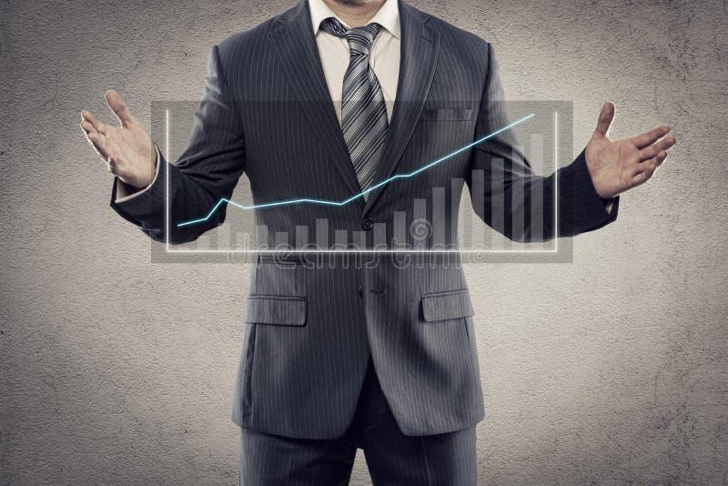 Hombre de negocios con la carta imagen de archivo