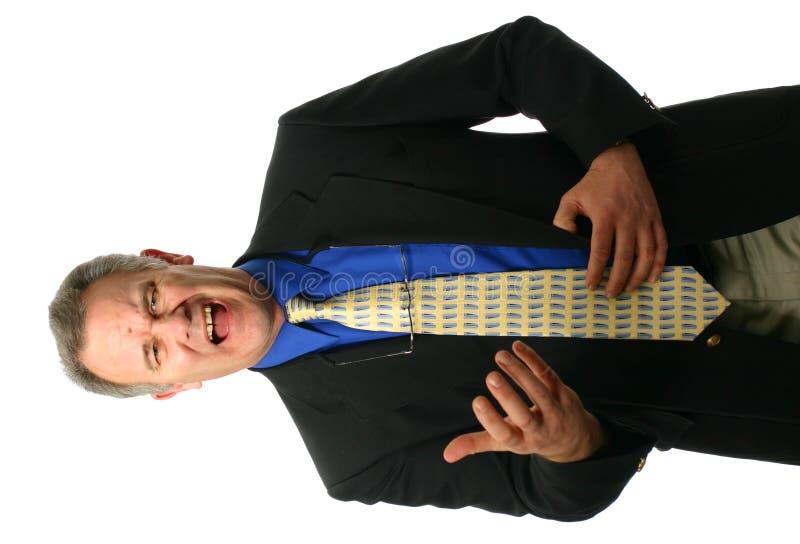 Hombre de negocios con la expresión enojada foto de archivo libre de regalías