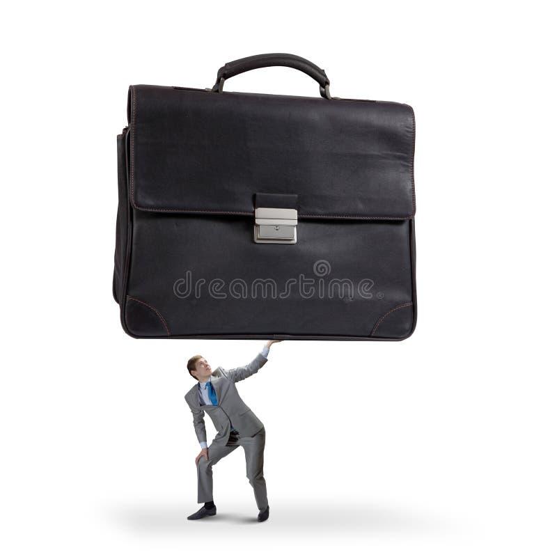 Hombre de negocios con la maleta foto de archivo libre de regalías
