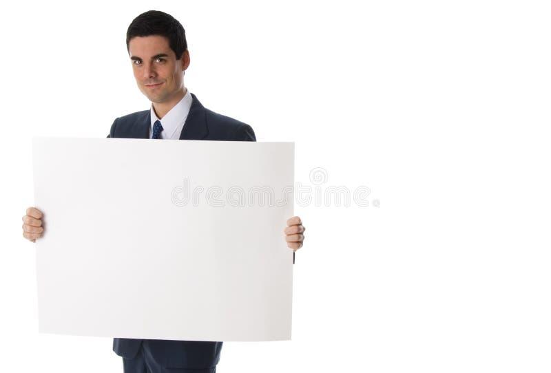 Hombre de negocios con la tarjeta fotografía de archivo