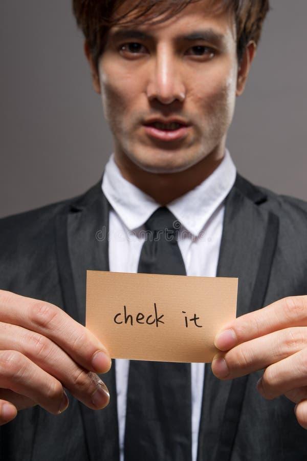 Hombre de negocios con la tarjeta imagen de archivo libre de regalías