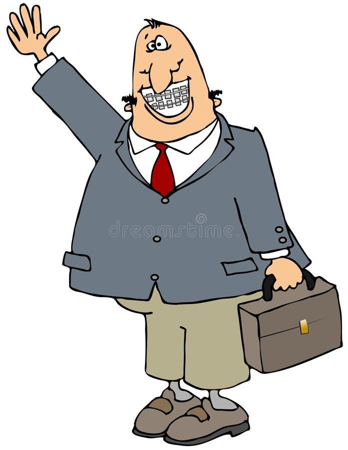 Hombre de negocios con las paréntesis stock de ilustración