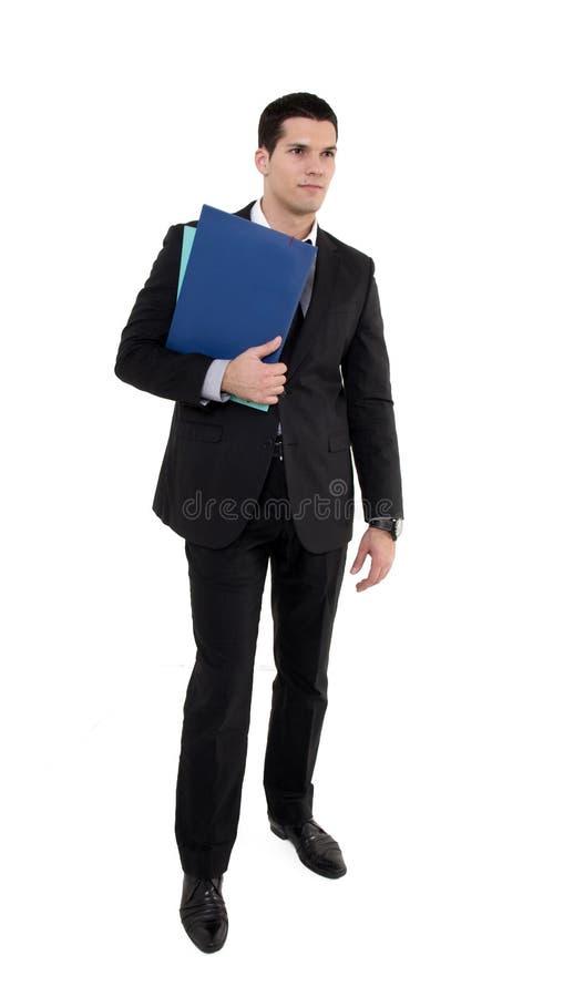 Hombre de negocios con los documentos imagen de archivo