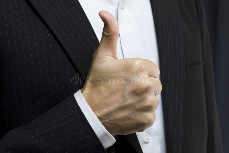Hombre de negocios con los pulgares para arriba fotografía de archivo