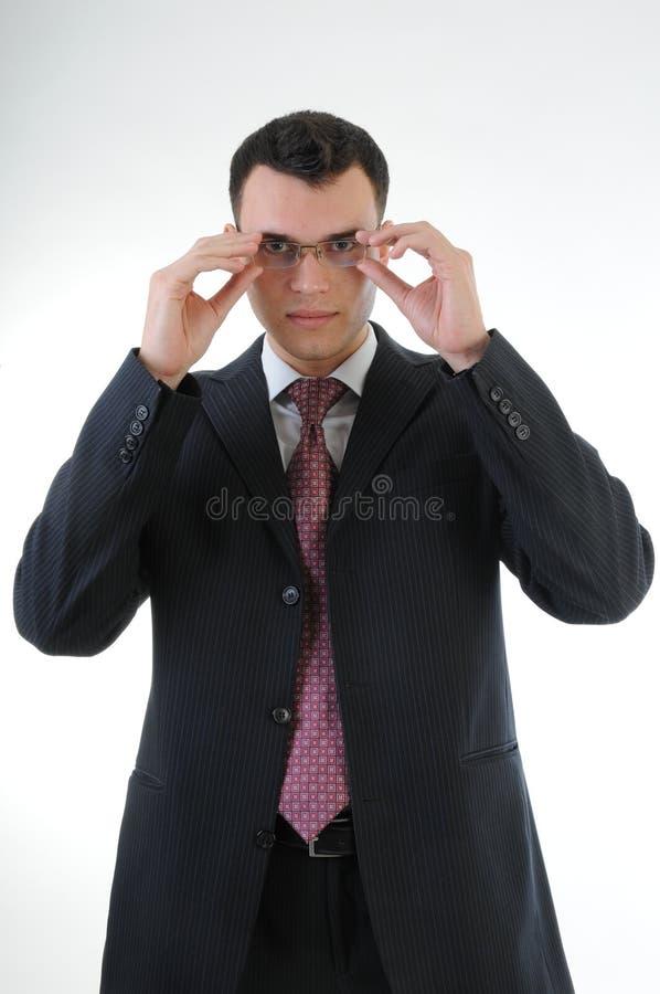 Download Hombre De Negocios Con Los Vidrios Imagen de archivo - Imagen de sonrisa, negocios: 64204563