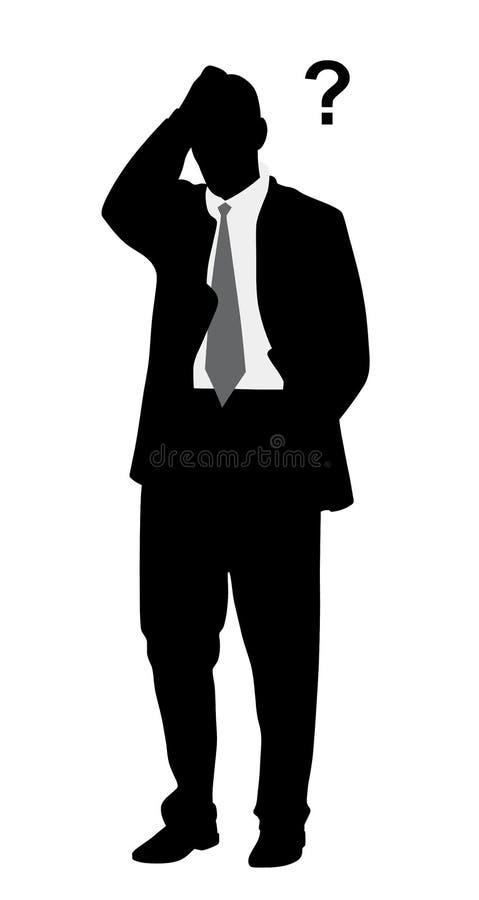 Hombre de negocios con problemas libre illustration