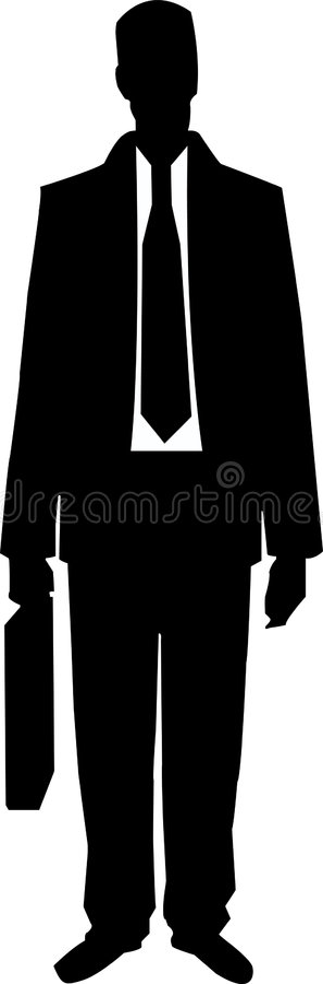 Hombre de negocios con una cartera fotografía de archivo