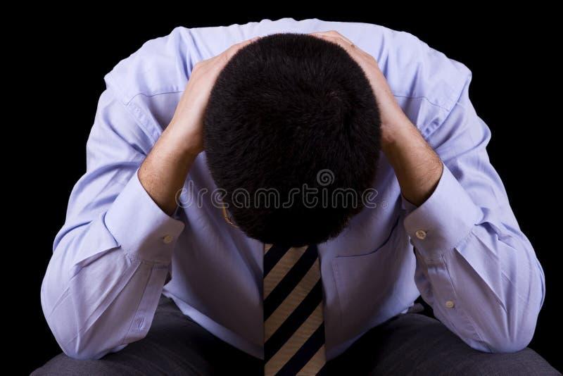 Hombre de negocios con una depresión foto de archivo libre de regalías
