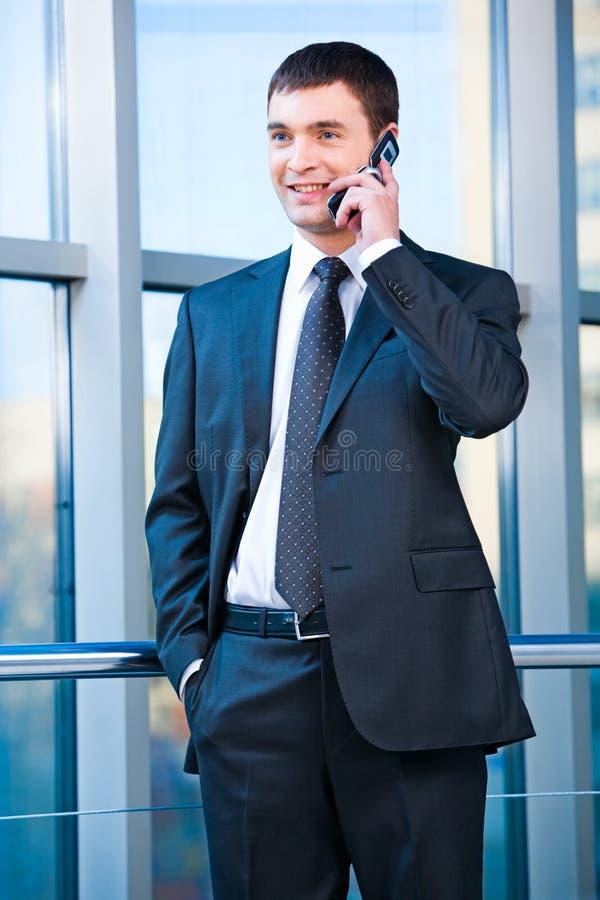 Hombre de negocios confidente fotografía de archivo libre de regalías