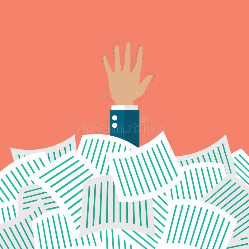 Hombre de negocios conforme a muchos documentos libre illustration