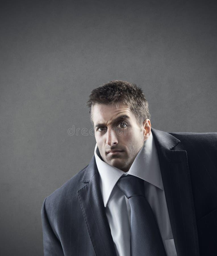 Hombre de negocios confuso fotografía de archivo libre de regalías