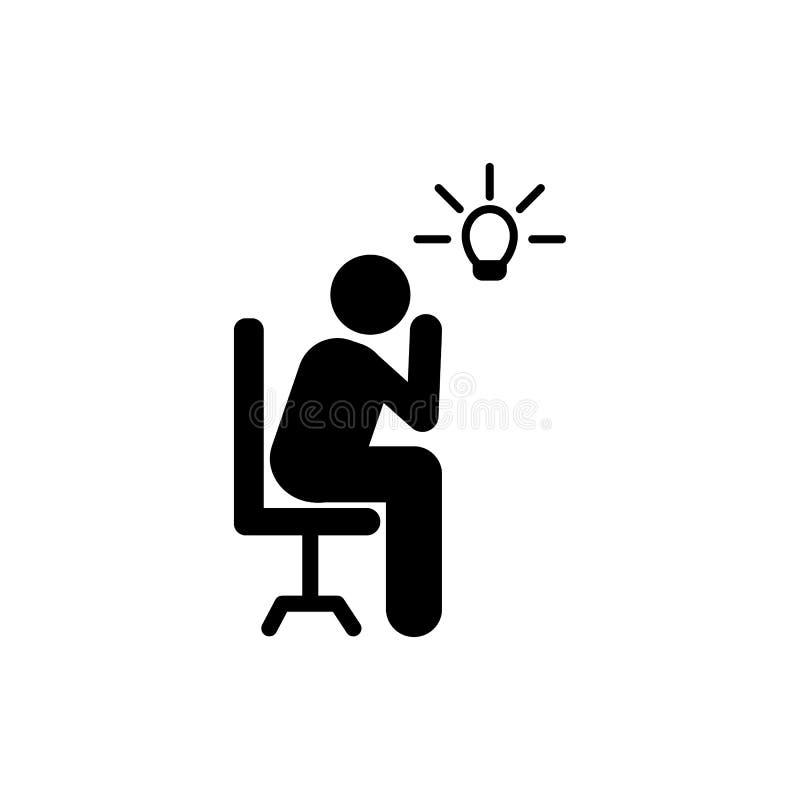 Hombre de negocios, creativo, idea, icono de la oficina Elemento del icono del pictograma del hombre de negocios Icono superior d ilustración del vector