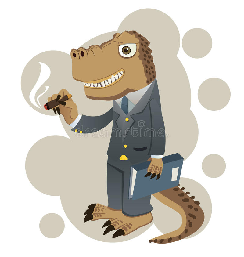 Hombre de negocios de Dino ilustración del vector