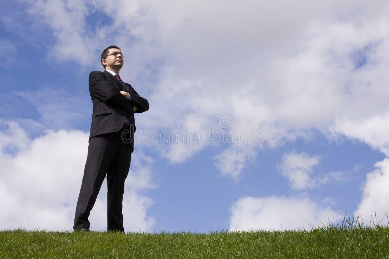 Hombre de negocios de gran alcance imagen de archivo libre de regalías