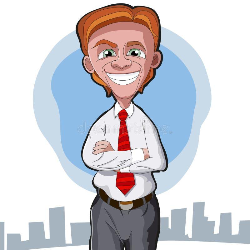 Hombre de negocios de la historieta foto de archivo