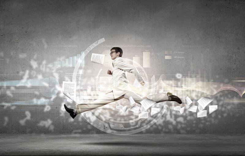 Hombre de negocios de la velocidad completa imágenes de archivo libres de regalías