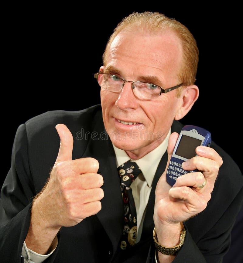 Hombre de negocios de PDA foto de archivo libre de regalías