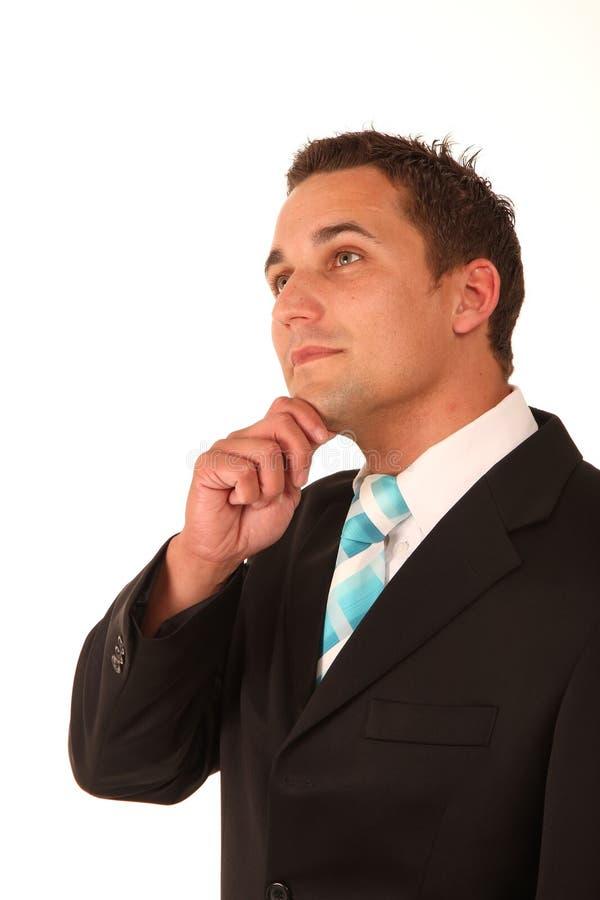 Hombre de negocios de pensamiento imagenes de archivo