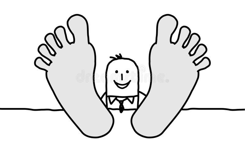 Hombre de negocios de relajación ilustración del vector