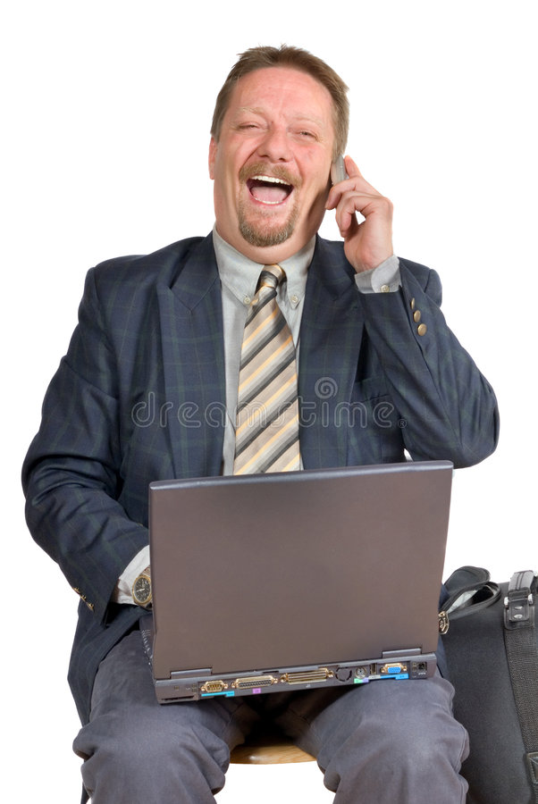 Hombre de negocios de risa foto de archivo libre de regalías